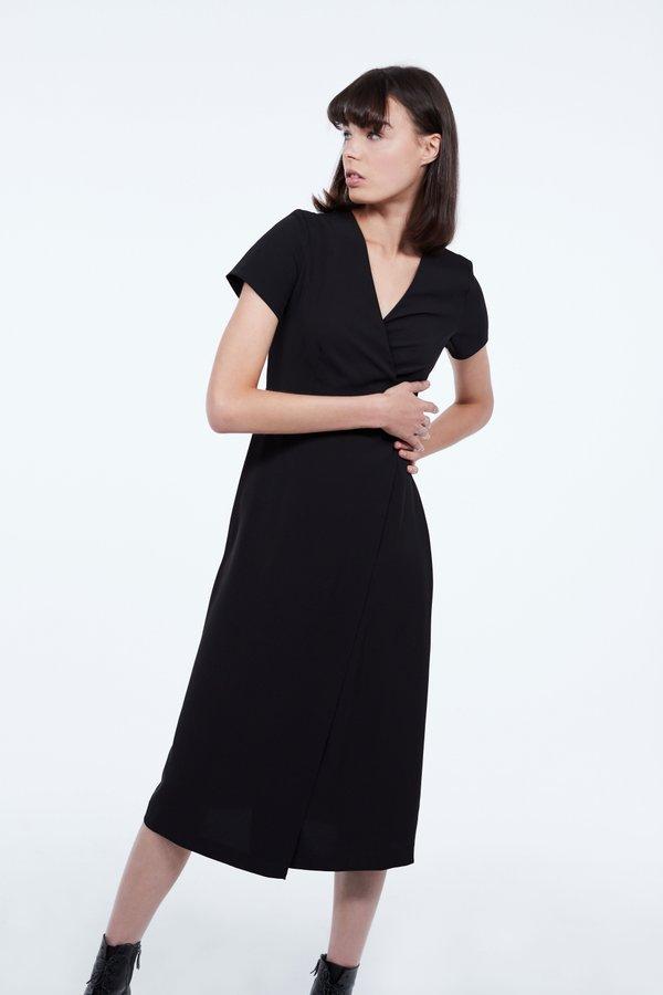 Платье с запахом цвет: черный