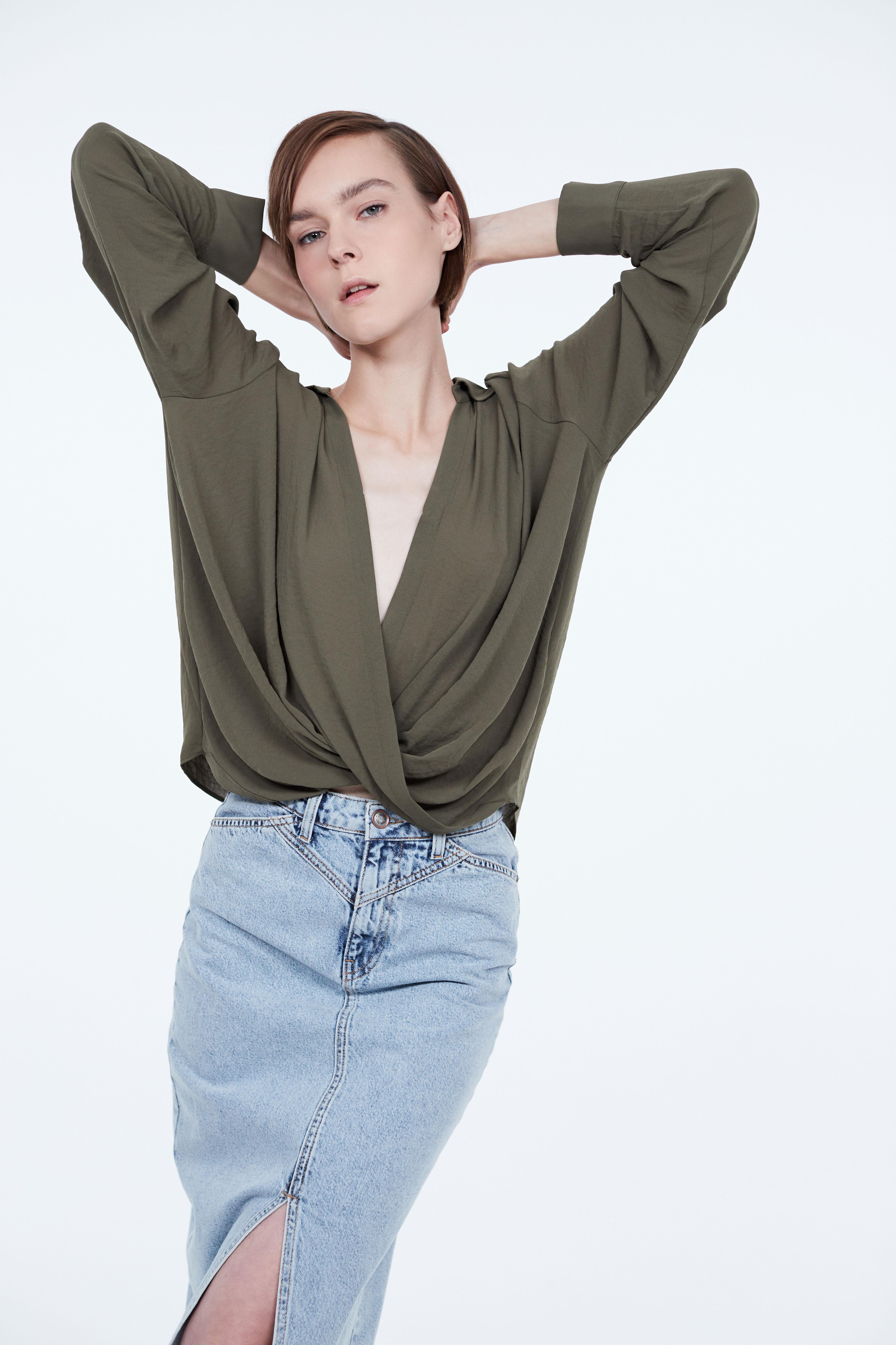 Блузка LIME Блузка с запахом блузка lime блузка с эластичной талией