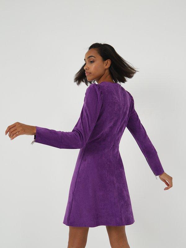Платье из велюра  вид сзади