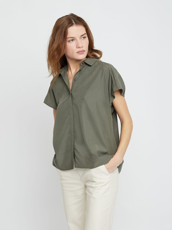 Рубашка со скрытой пуговичной планкой