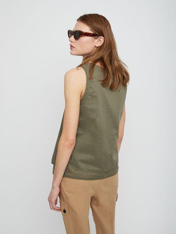 Двухслойная хлопковая блузка вид сзади