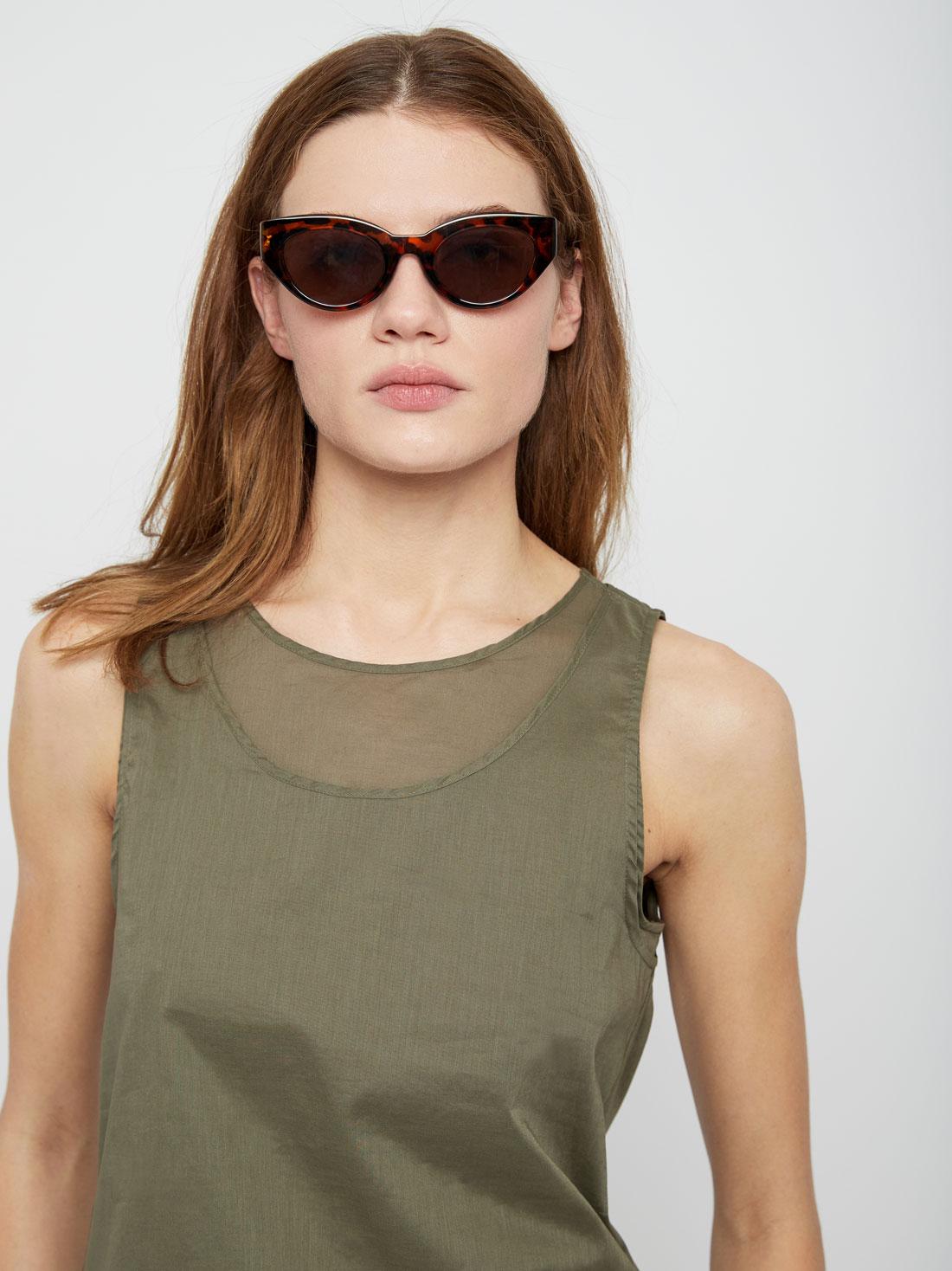 Двухслойная хлопковая блузка