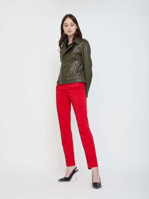 Классические брюки со стрелками цвет: ярко-красный
