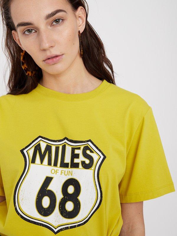 """Футболка с принтом """"MILES 68"""""""