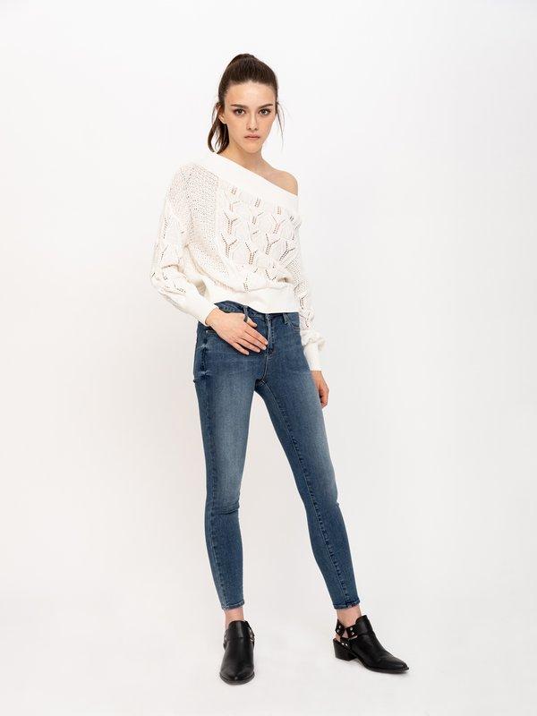 Укороченные джинсы цвет: синий