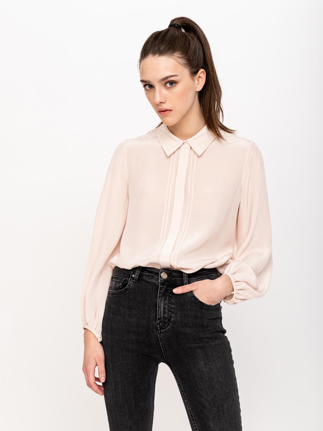 Рубашка со складками