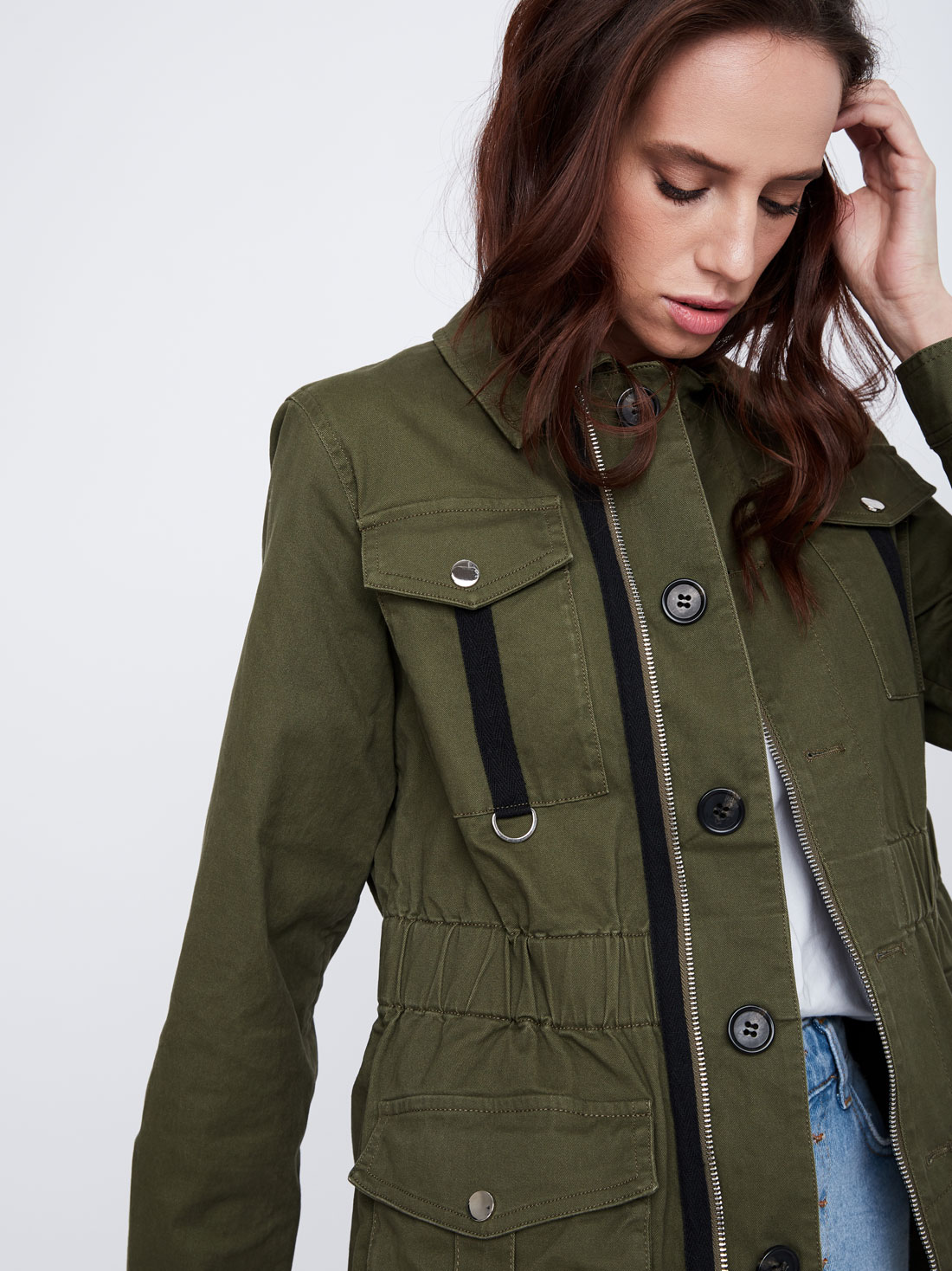 Куртка с карманами
