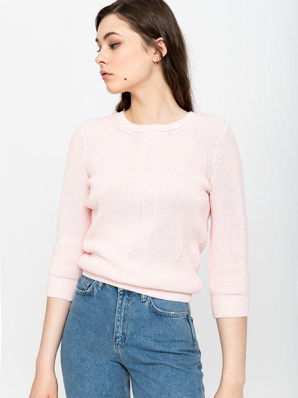 Джемпер с V-образным вырезом цвет: светло-розовый