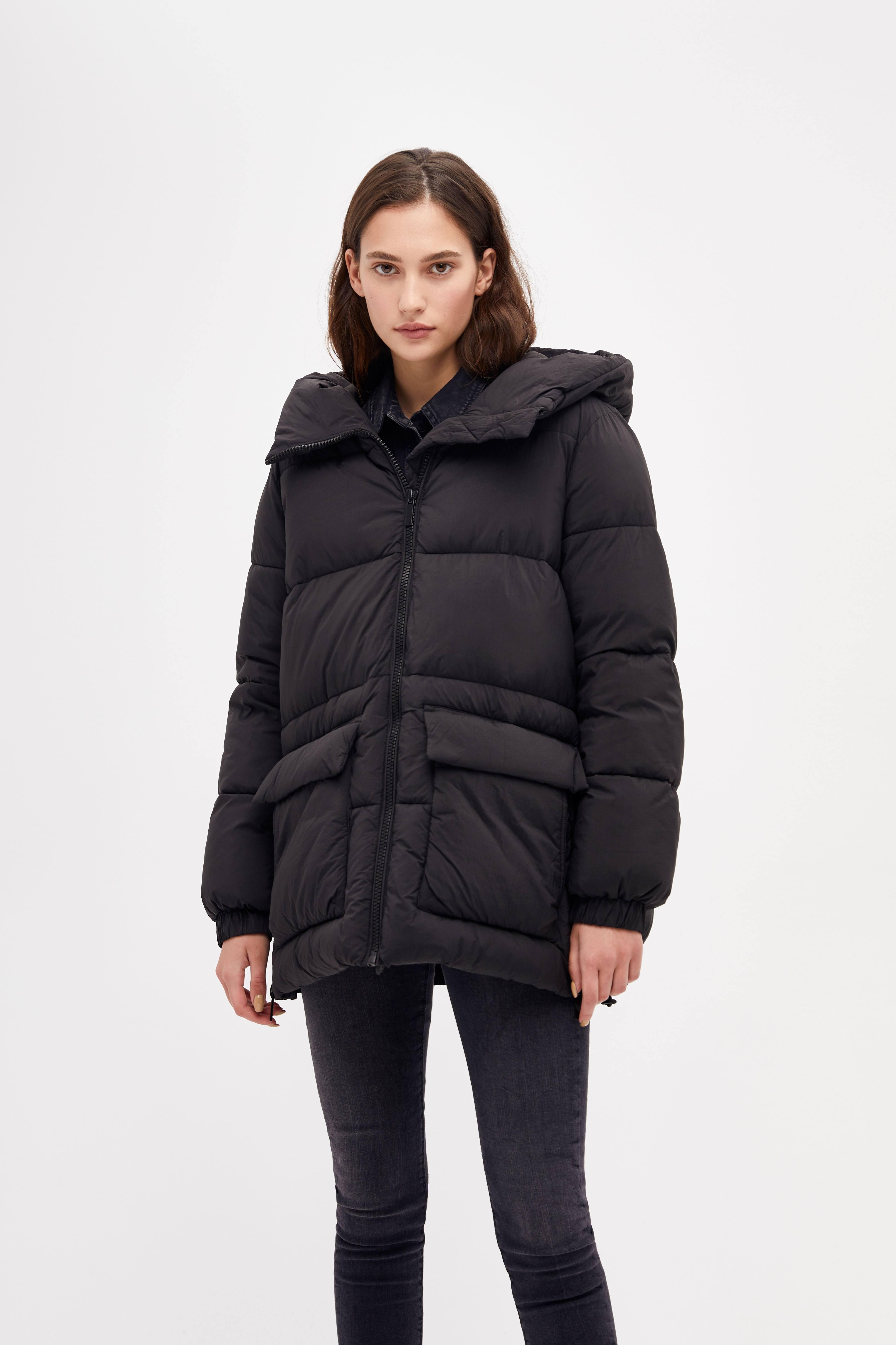 Куртка LIME Куртка с объемным капюшоном куртка с капюшоном черная in extenso