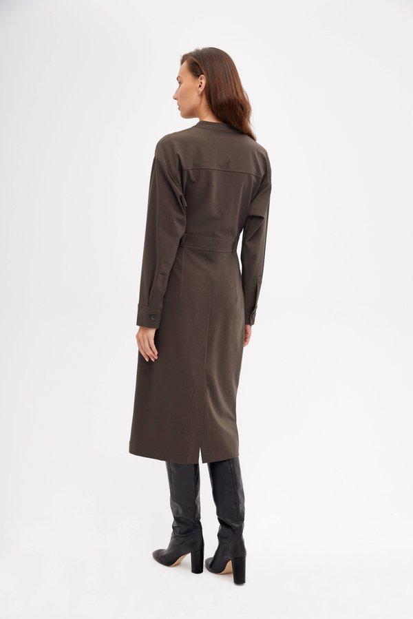 Платье с V-образным вырезом вид сзади