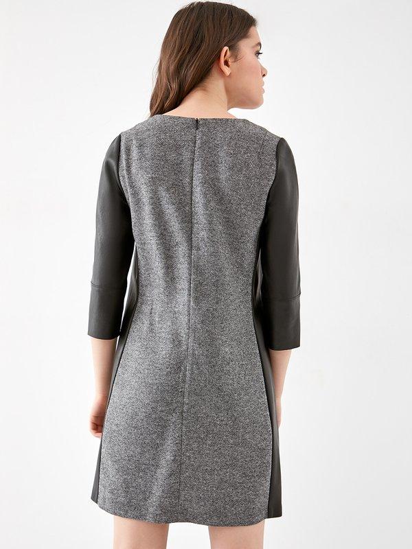 Комбинированное платье вид сзади