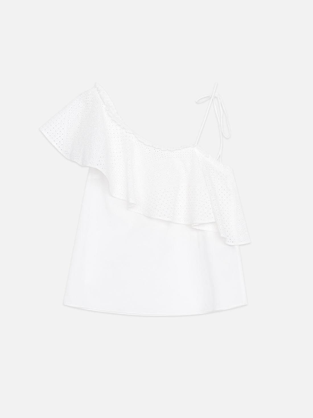 Блузка из хлопка на одно плечо