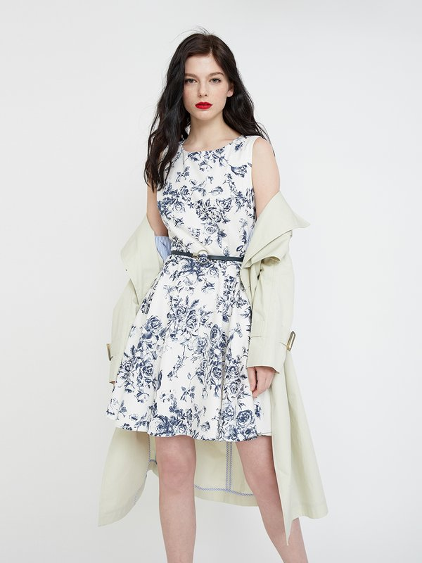 Платье с цветочным принтом