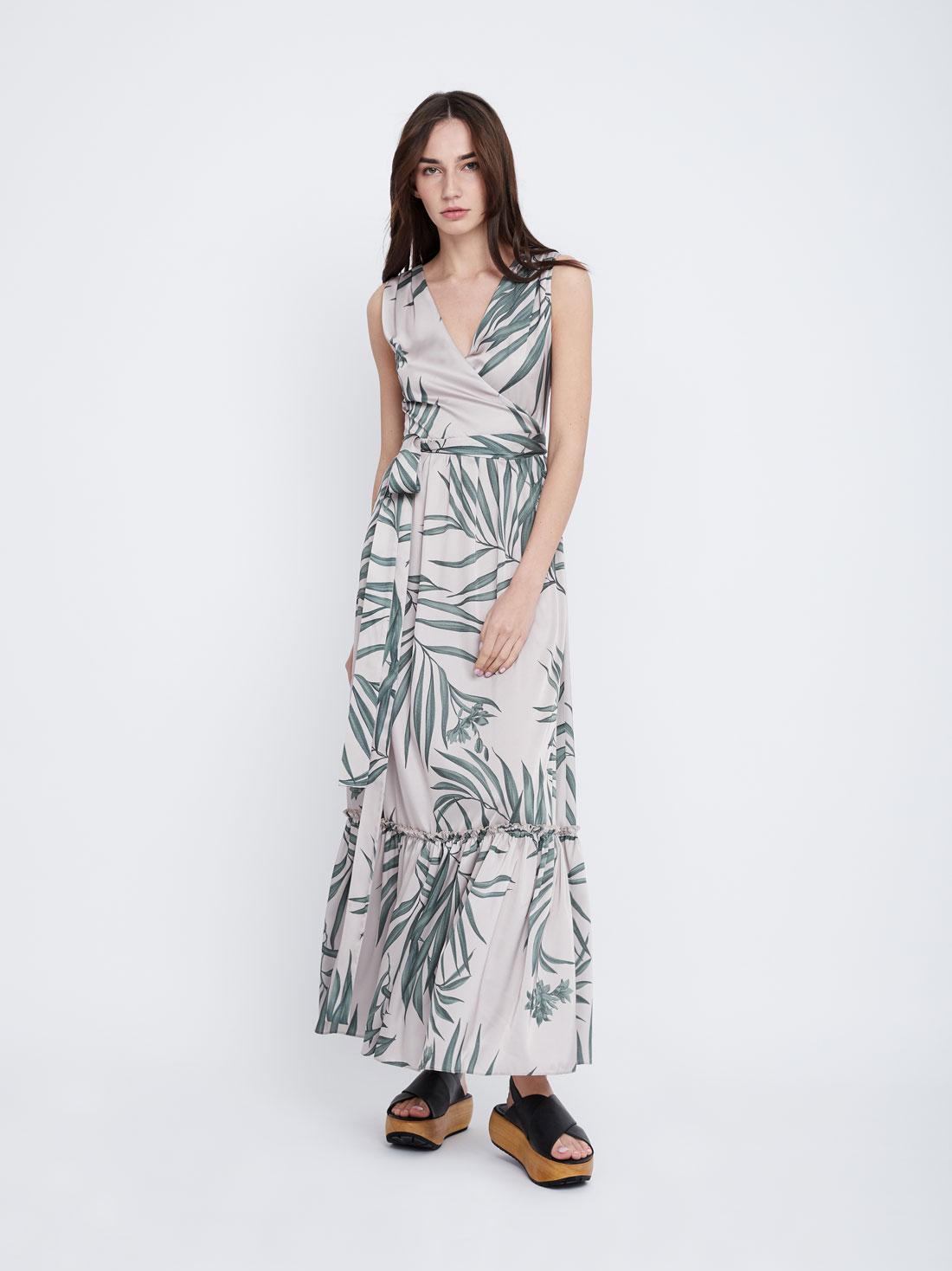 Платье макси Х-силуэта