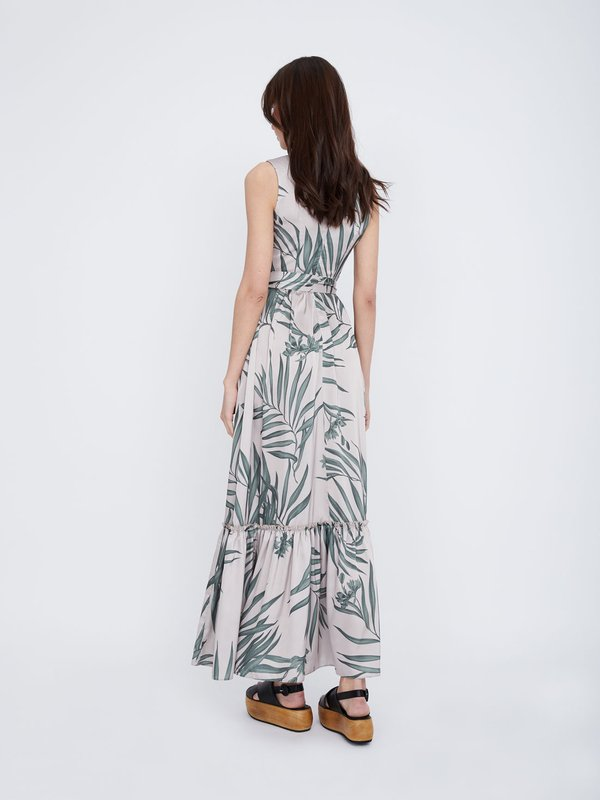 Платье макси Х-силуэта вид сзади