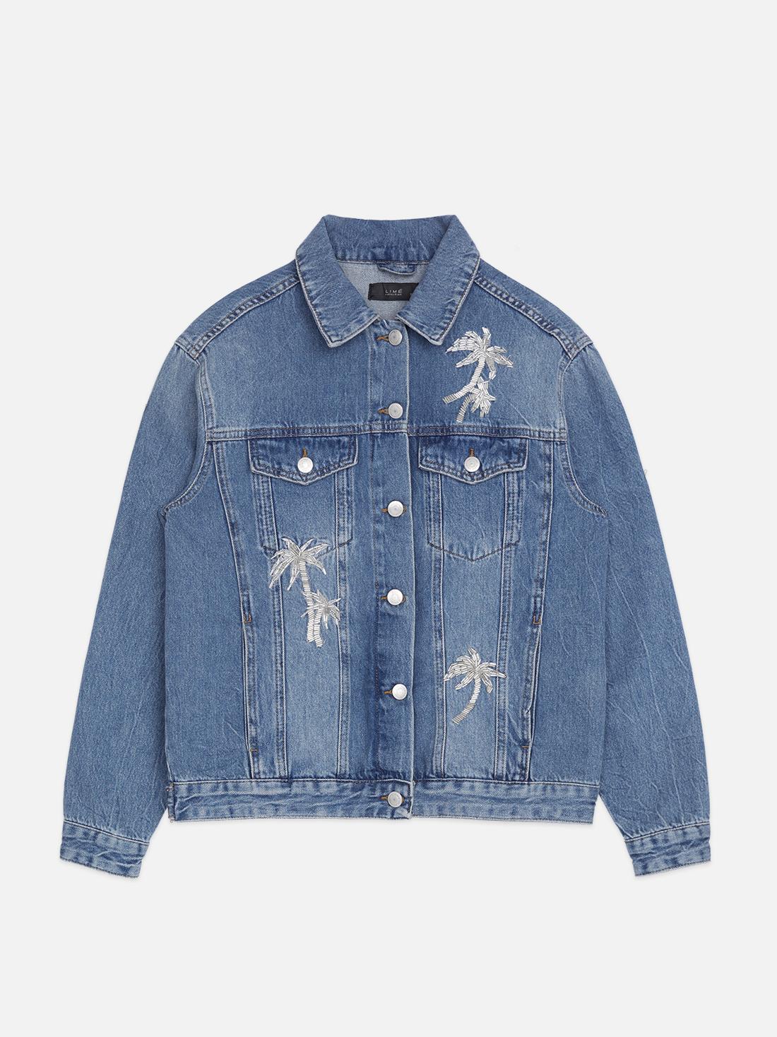 Куртка из денима с вышивкой