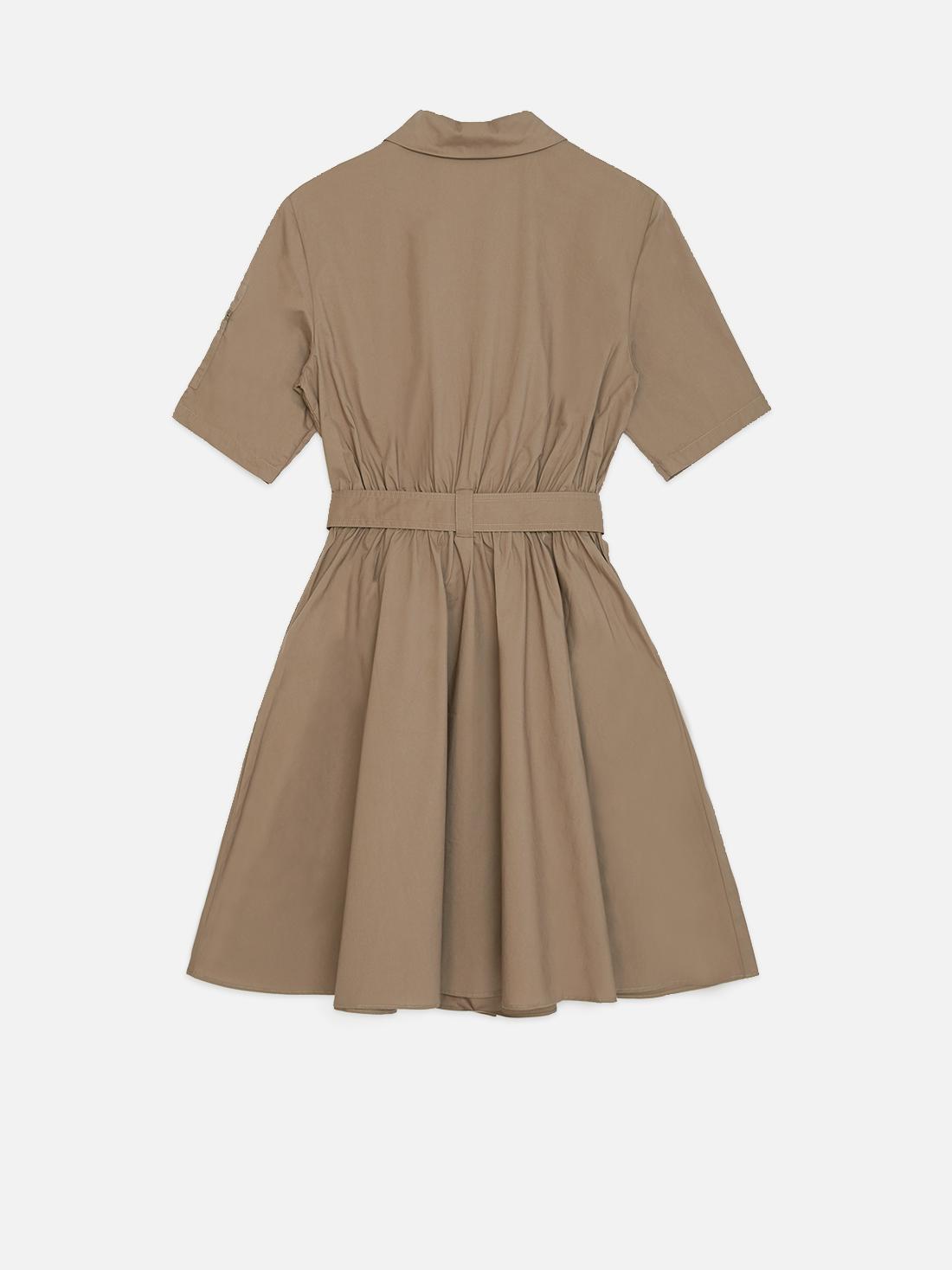 Платье с накладными карманами
