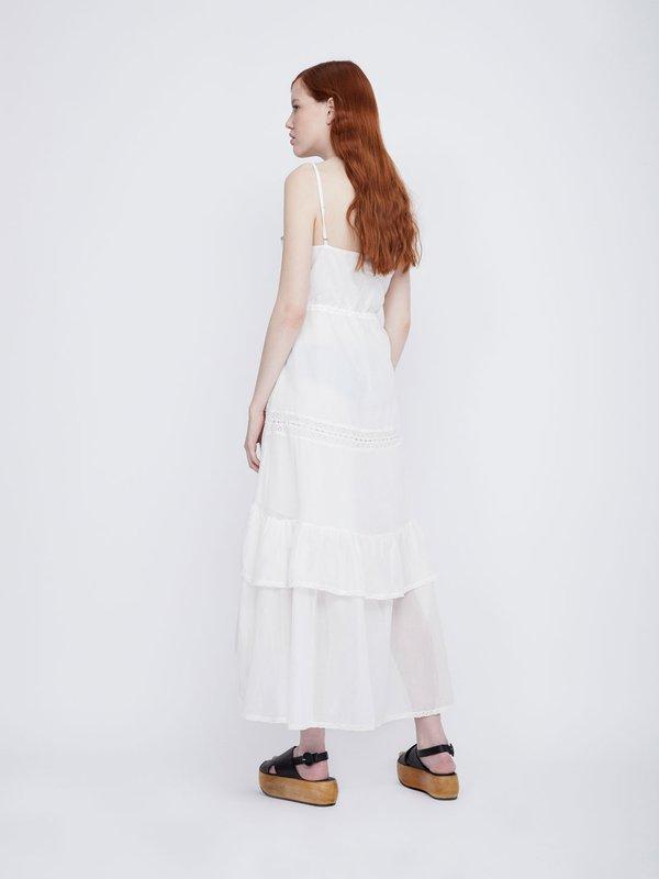 Асимметричное платье на бретелях вид сзади