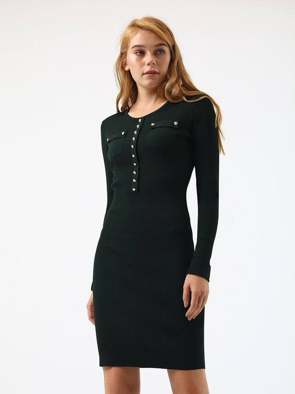 Платье по силуэту цвет: темно-зеленый