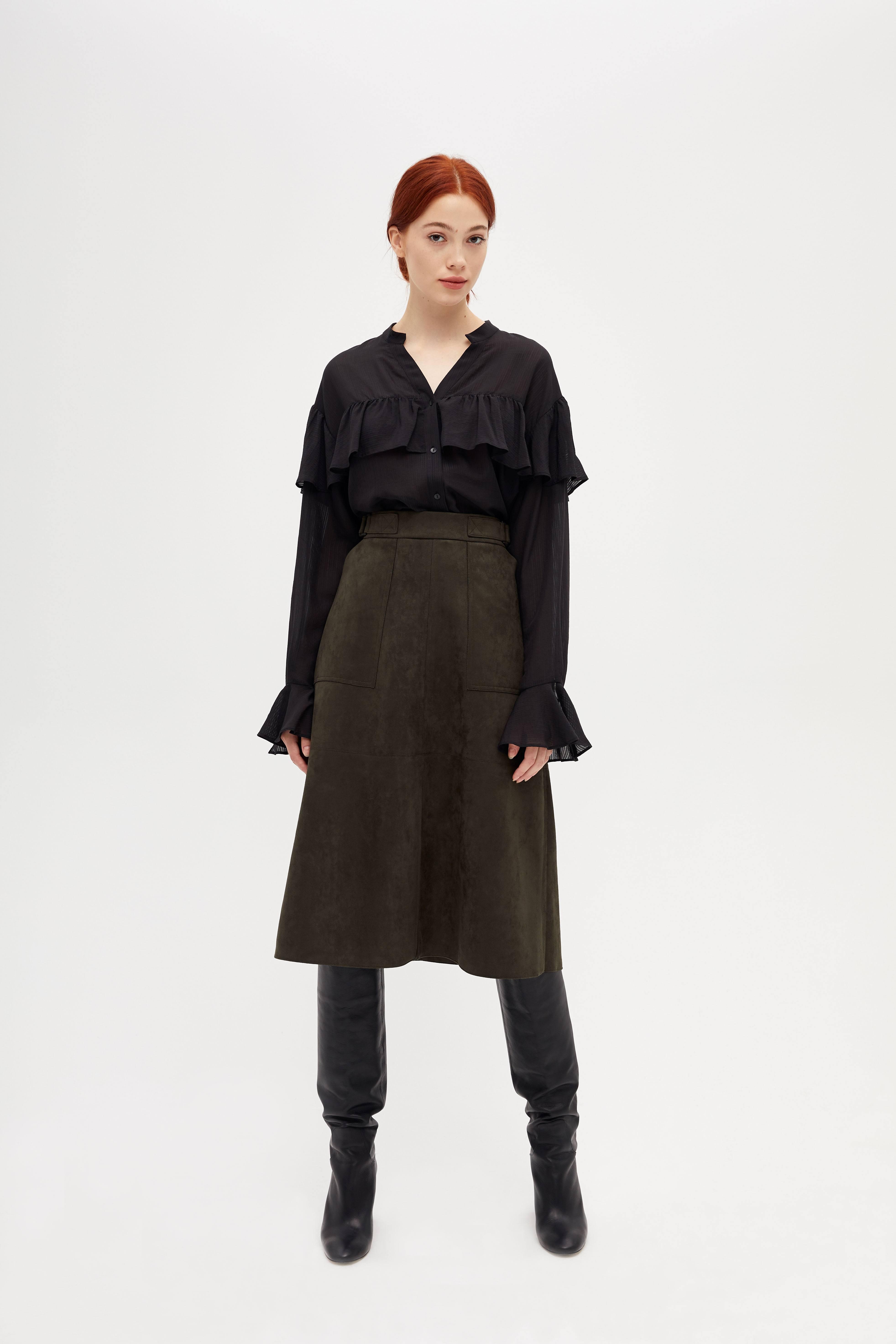 Юбка LIME Юбка с разрезом спереди юбка lime юбка с запахом