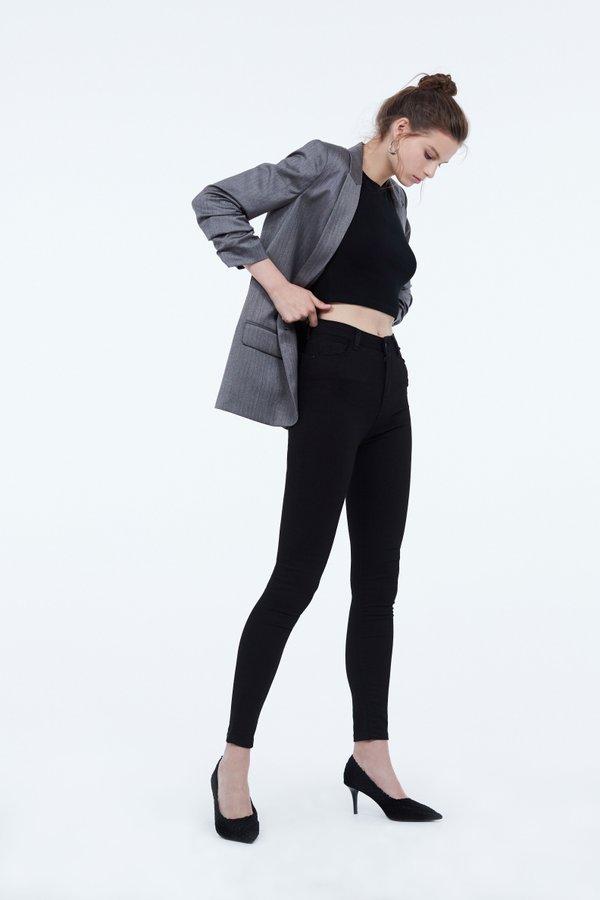 Узкие джинсы цвет: черный