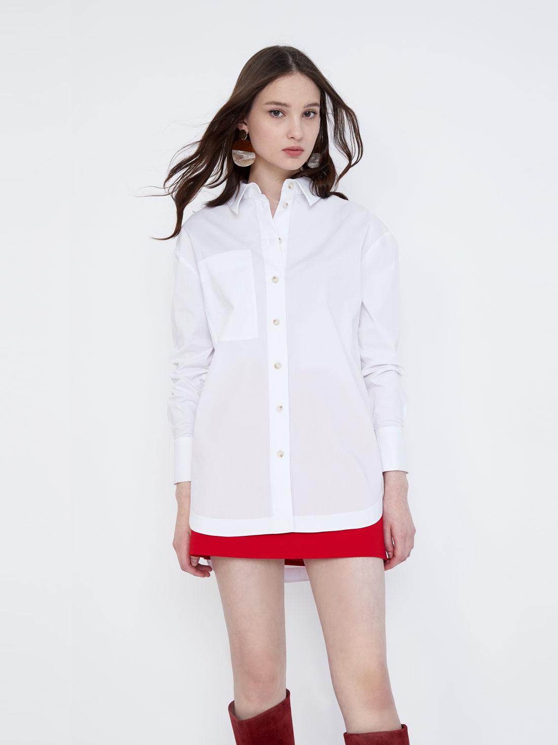 Рубашка оверсайз