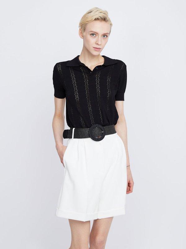 Джемпер с ажурным узором цвет: черный
