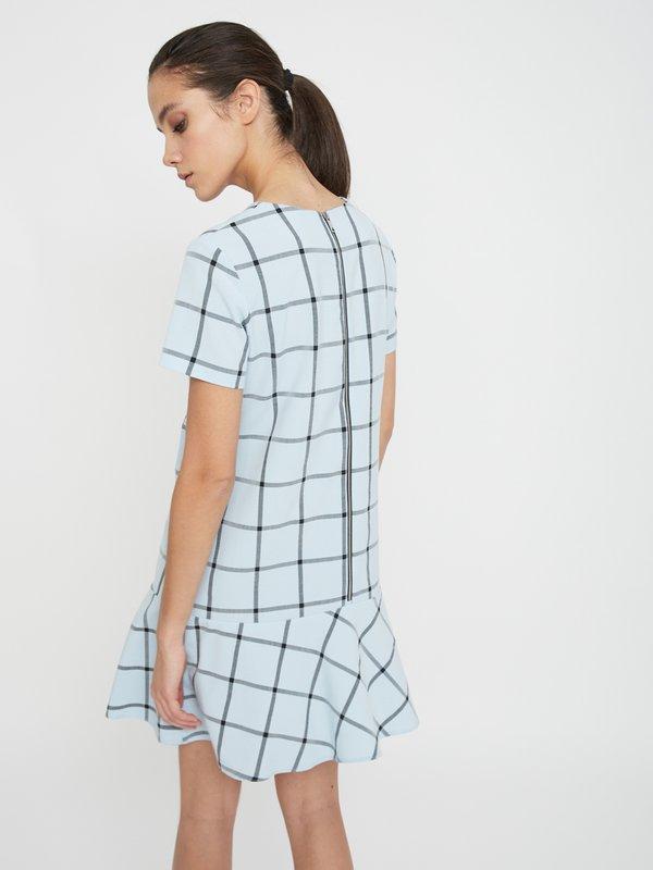 Платье в клетку вид сзади