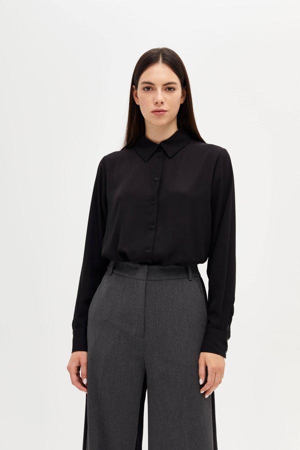 Рубашка прямого силуэта цвет: черный