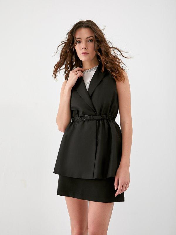 Удлиненный жилет цвет: черный