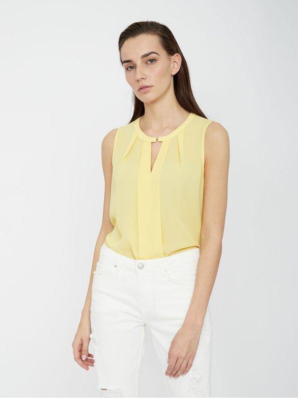 Блузка с V-образным вырезом цвет: желтый