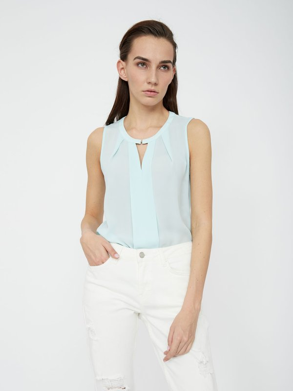 Блузка с V-образным вырезом цвет: минт