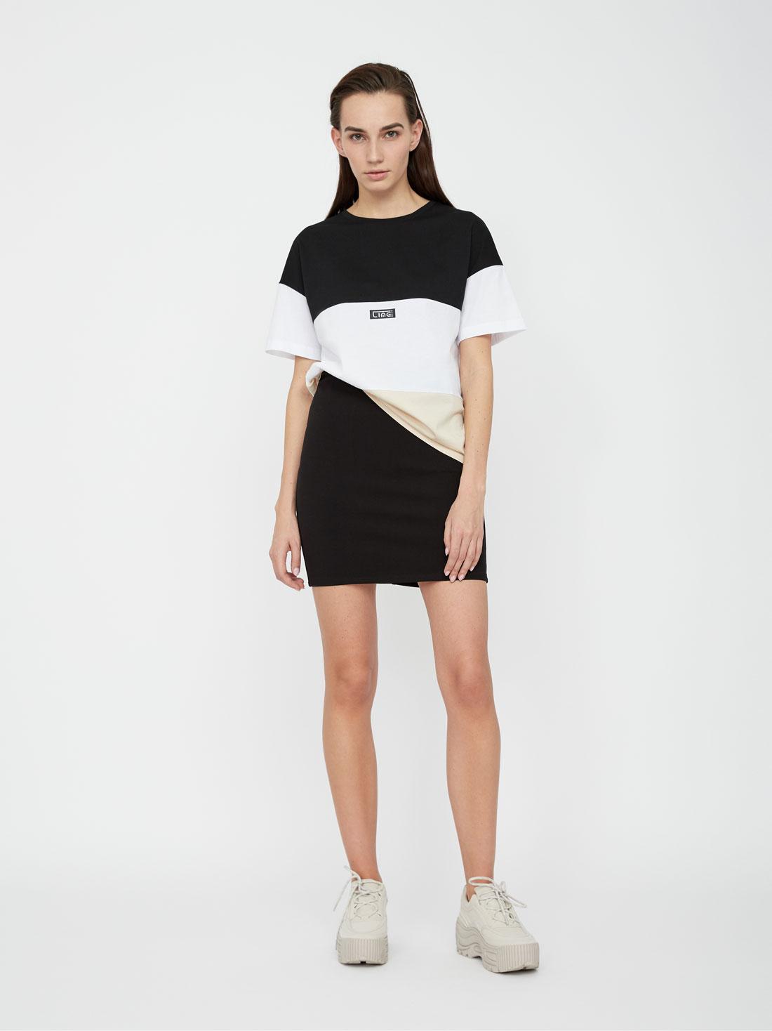Юбка LIME Трикотажная мини-юбка юбка короткая из денима с геометрическим рисунком