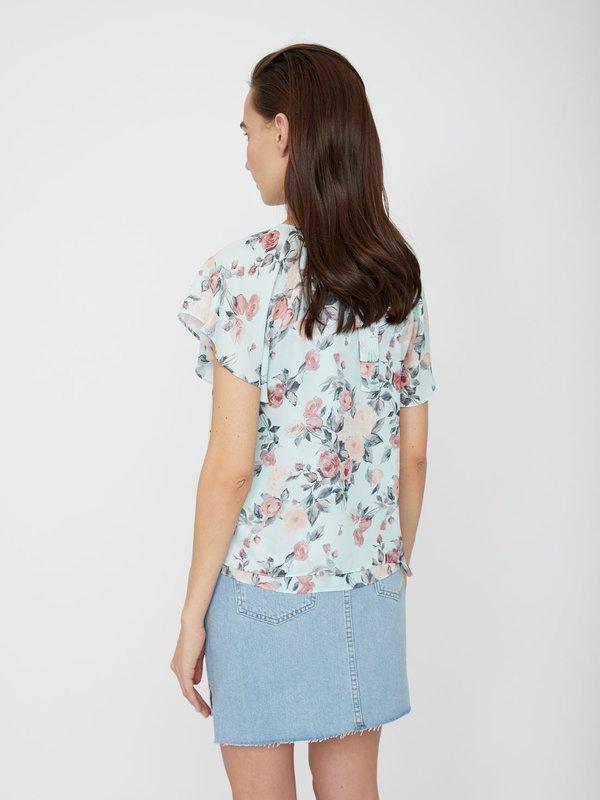 Блузка с бантом на спинке вид сзади