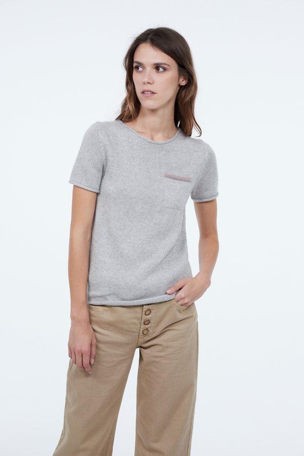 Джемпер с карманом  цвет: серый меланж
