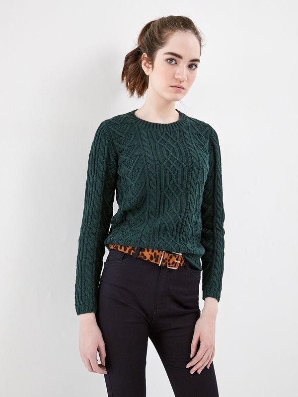 Вязаный джемпер цвет: темно-зеленый