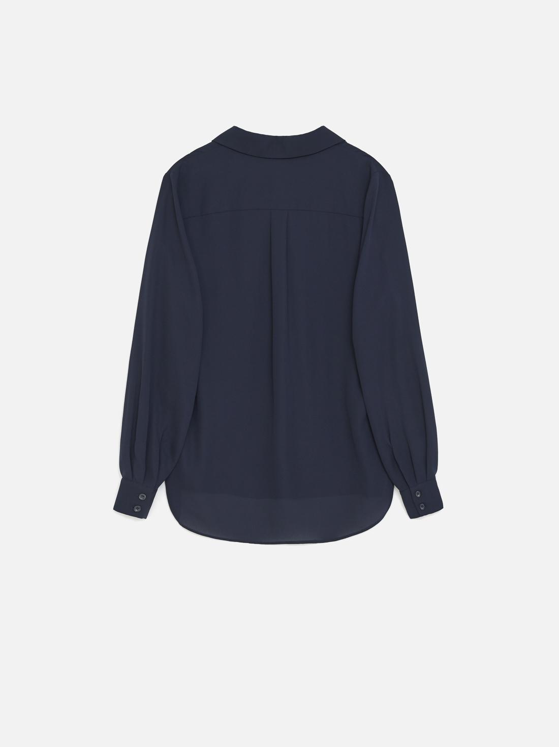 Рубашка с асимметричным низом