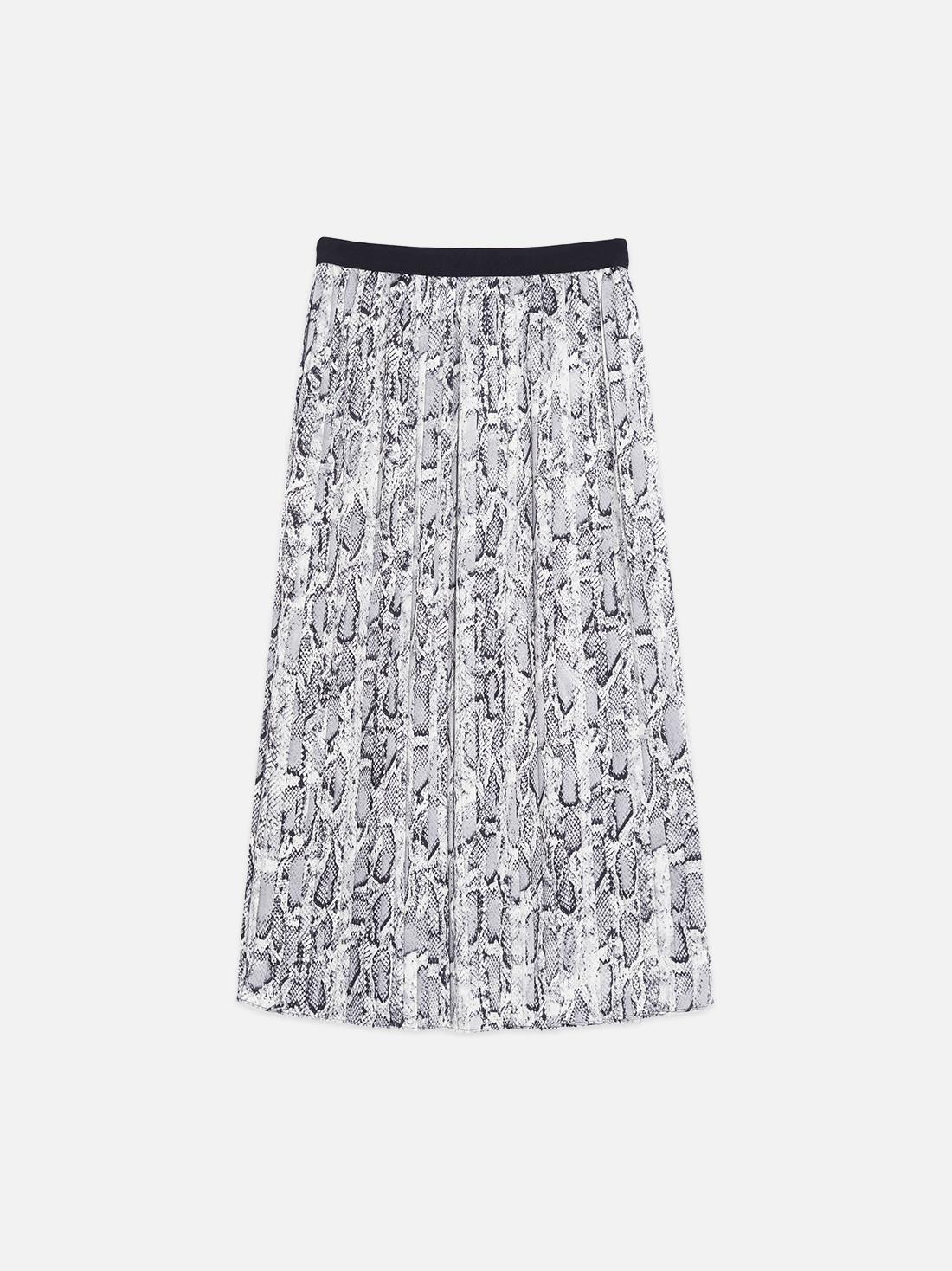 Плиссированная юбка-миди