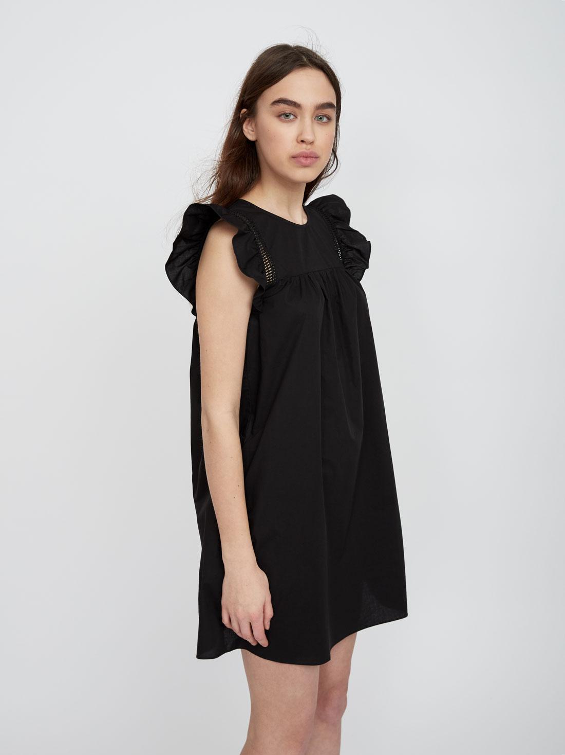 Платье с декоративными воланами