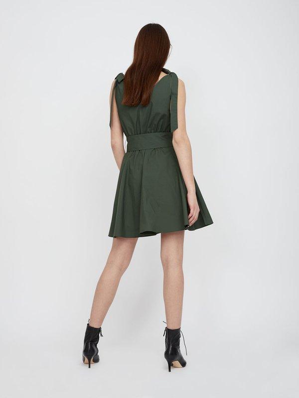 Платье на завязках вид сзади