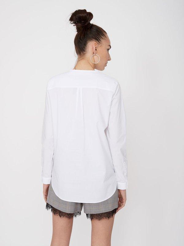 Рубашка из хлопка вид сзади