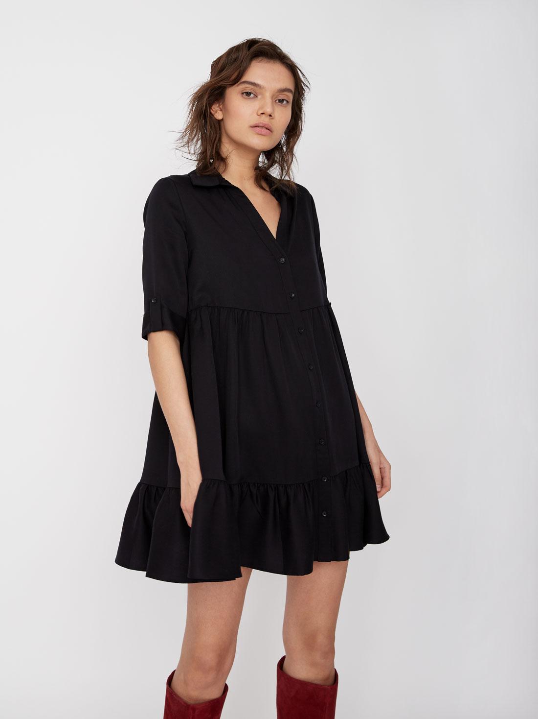170fd9b6041 Платье А силуэта темно-синий цвет - Платья LIME