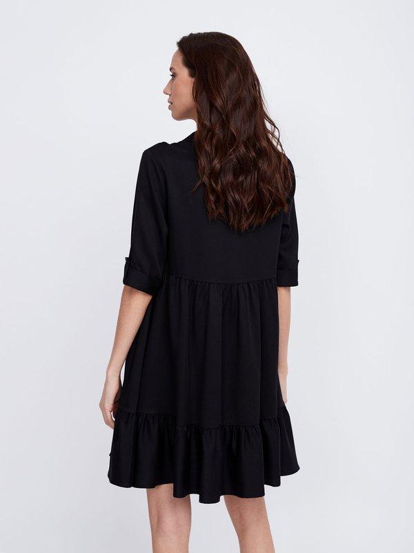 Платье А силуэта вид сзади