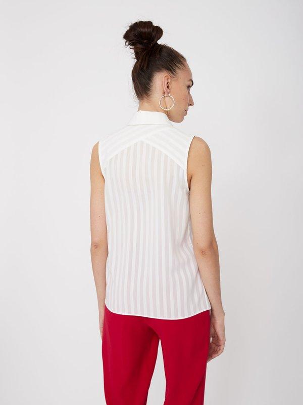 Рубашка со съемным бантом вид сзади