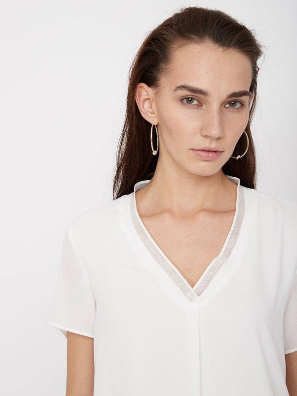 Блузка с отделкой металлизированной нитью