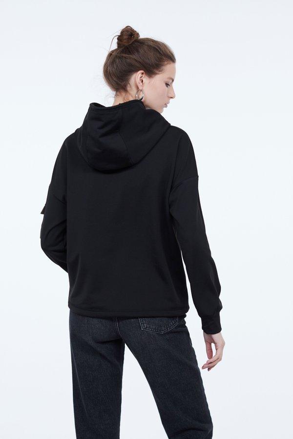 Толстовка с контрастным карманом вид сзади