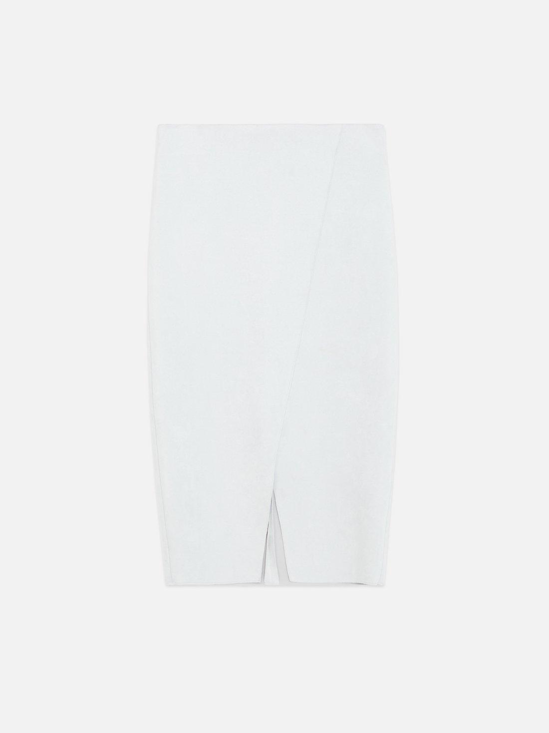 Замшевая юбка-карандаш