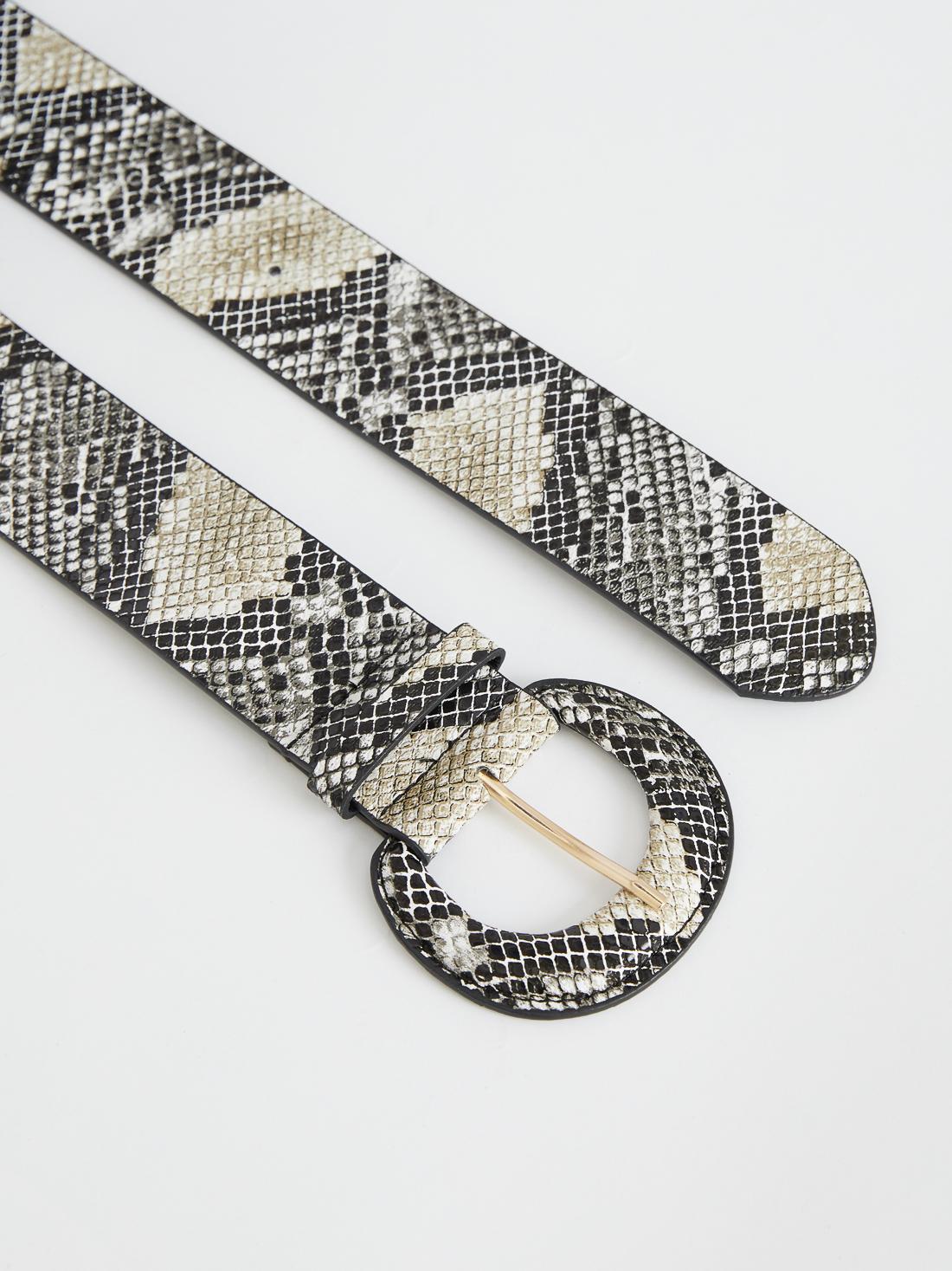 Ремень с принтом змеиной кожи