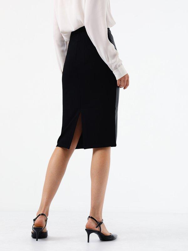 Комбинированная юбка  вид сзади