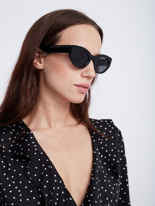 """Солнечные очки """"cat eye"""" цвет: черный"""